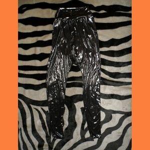 Silver Mc Hammer Style Pants Parachute Pants